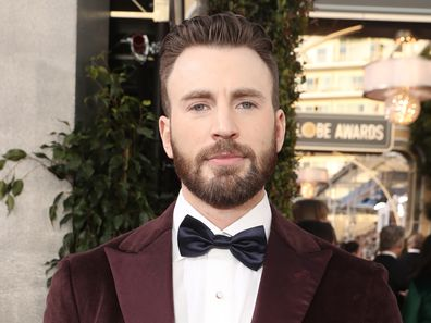 Chris Evans arrives to the 77th Annual Golden Globe Awards held at the Beverly Hilton Hotel on January 5, 2020.