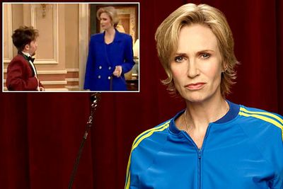 <B>You know her as...</B> Sue Sylvester, <I>Glee</I>'s villainous cheerleading coach.<br/><br/><B>Before she was famous...</B> Jane had a <I>lot</I> of minor roles before <I>Glee</I>, popping up in shows as varied as <I>Arrested Development</I>, <I>Two and a Half Men</I> and <I>The X-Files</I>. One of her earliest TV roles was in <I>Married... with Children</I>, playing the upper-crust owner of a misbehaving dog way back in 1994.