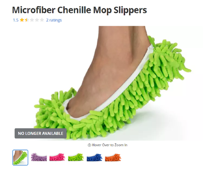 An ad for mop slippers on Groupon.