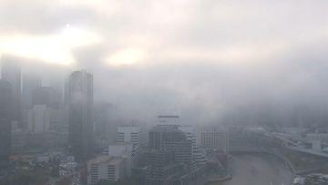 Fog blankets Melbourne - May 26, 2020.