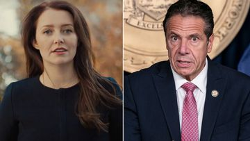 Lindsey Boylan, on left, is a former aide of New York Gov. Andrew Cuomo, on right. Cuomo is denying allegations from Boylan who accused him of sexual harassment, including an unwanted kiss, in a Medium post on Wednesday.