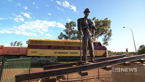 Port Hedland has been hit hard by the mining industry's struggles. (9NEWS)