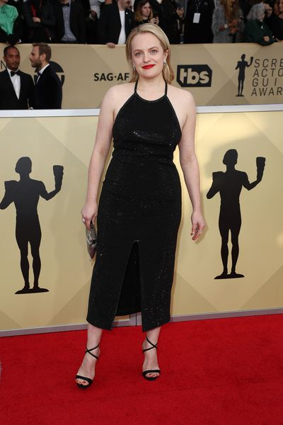 Actress Elisabeth Moss at the 2018 SAG Awards