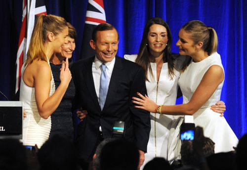 Former prime minister Tony Abbott was swept to power in 2013 on a platform attacking the trust in Julia Gillard. (AAP)