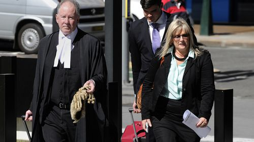 Debbie Kilroy outside Brisbane's Supreme Court with Michael Burn QC.