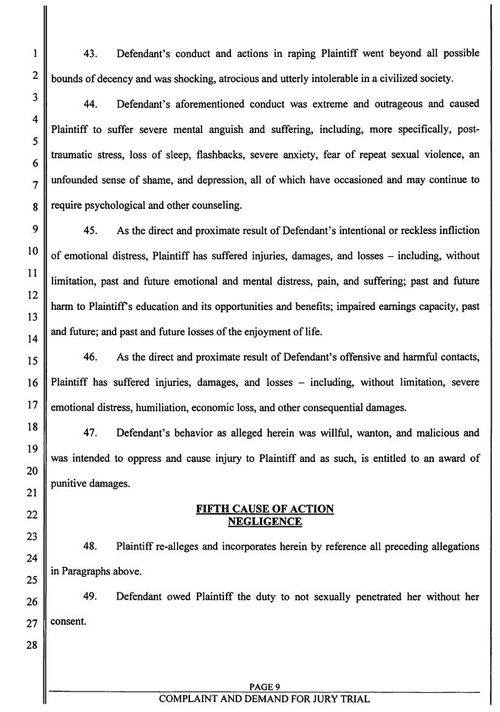 Page 9 of the civil suit document.