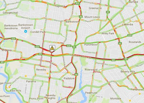 Motorists faced delays in Bankstown during this morning's peak as parts of Canterbury Road were closed. (livetraffic.com)