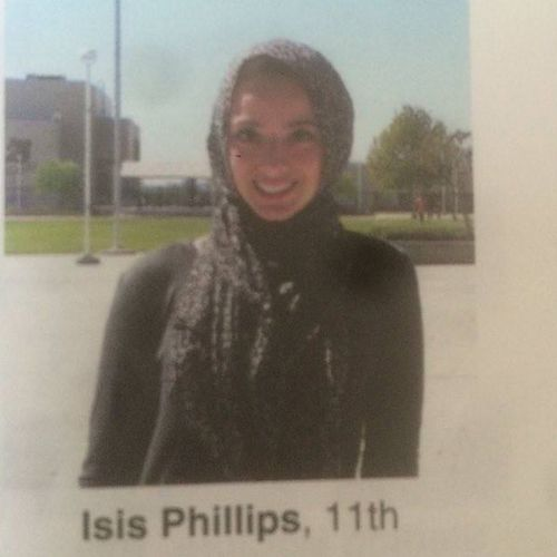 'I guess I'm Isis in the yearbook' wrote student Bayan Zehlif in a Twitter post.
