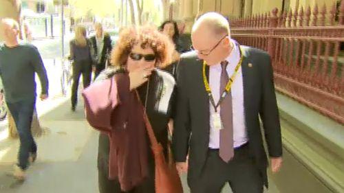 Patrick Cronin's parents outside court today. (9NEWS)