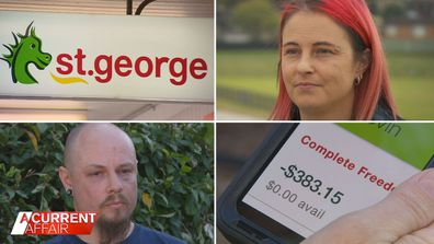 Thousands of St George customers see their money vanish in a flash.