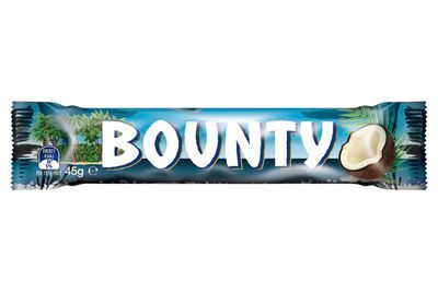 Bounty 45g: Over 5 teaspoons of sugar