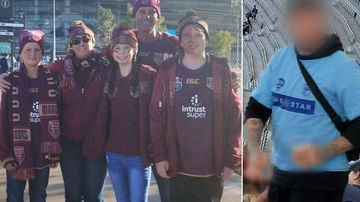 Family 'threatened with knife' during State of Origin clash