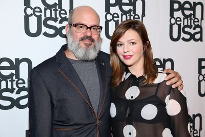 <p>Amber Tamblyn and fellow comedic actor husband David Cross (pictured) welcomed their first child in February 2017 - a baby daughter named Marlow Alice Cross. </p>