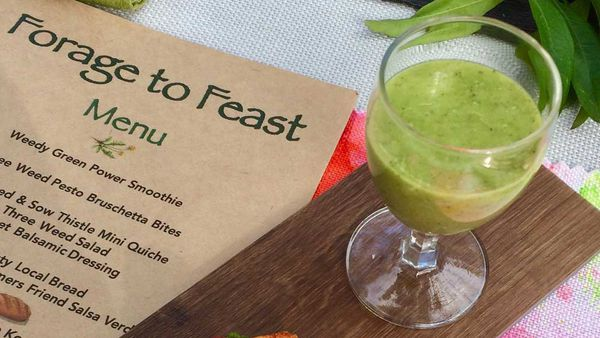 Weedy green power smoothie