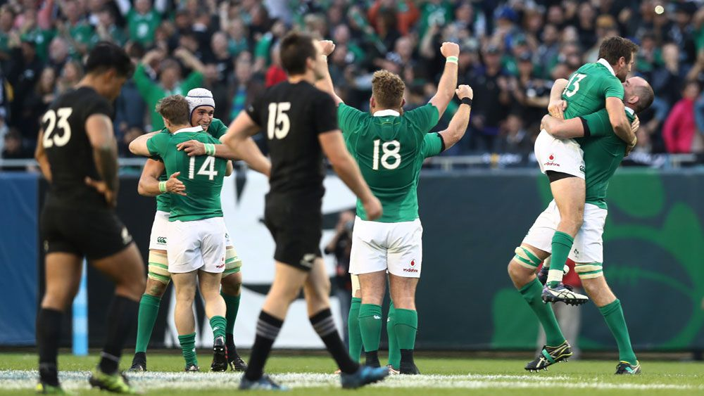 Ireland defeat the All Blacks in the United States.(Getty)