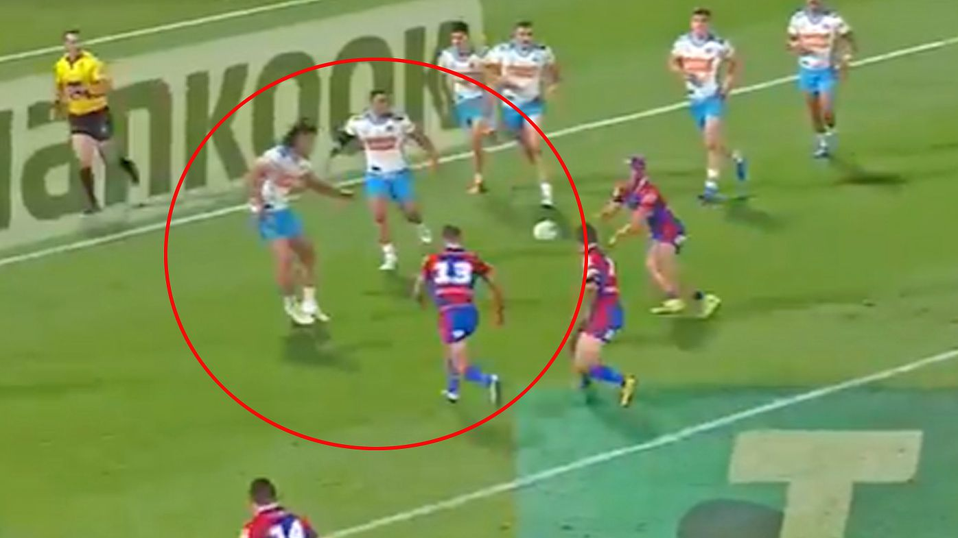Newcastle Knights star Connor Watson crunched by brutal 'bone-rattler'
