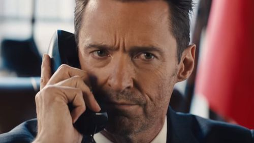 Hugh Jackman, fresh from 'The Greatest Showman', gets his serious face on. (Dundee Movie)