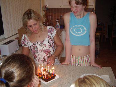 Tania birthday with mum Mandy Burgess