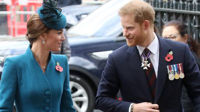 Prince Harry and the Duchess of Cambridge.