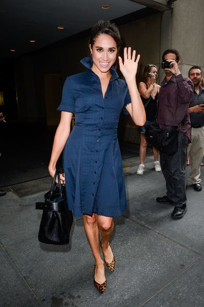 Actress Meghan Markle leaving the Today Show  July 13, 2016, in New York