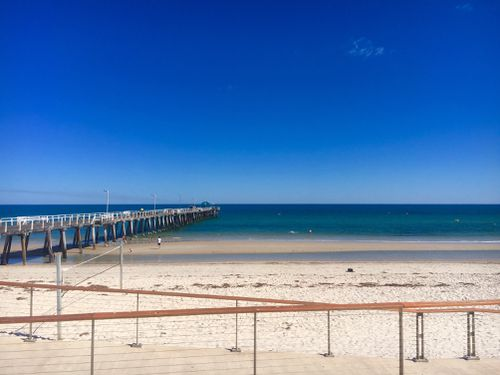TODAY weather presenter Natalia Cooper captures the gorgeous weather at Henley Beach today. (Picture: Natalia Cooper)