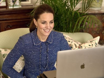 Kate Middleton on video call