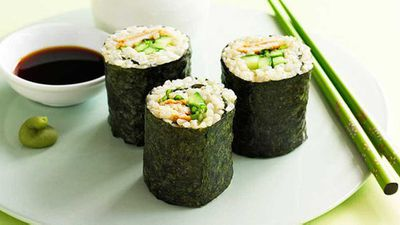 "<a href=""http://kitchen.nine.com.au/2016/05/16/17/37/brown-rice-sushi"" target=""_top"">Brown rice sushi</a> recipe"