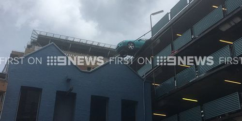 The male driver was not injured. (9NEWS)