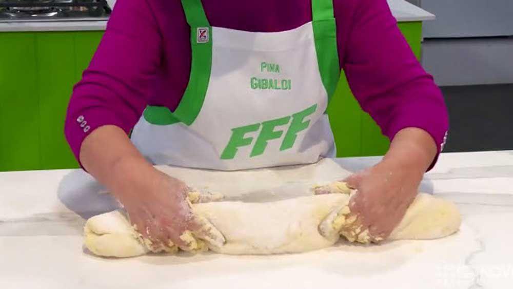 Pia Gibaldi making gnocchi potato pasta