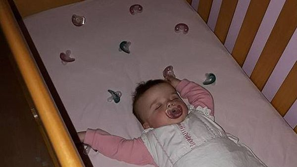 Sweet baby sleep - and all night through too. Image: Facebook/Laura Gerson