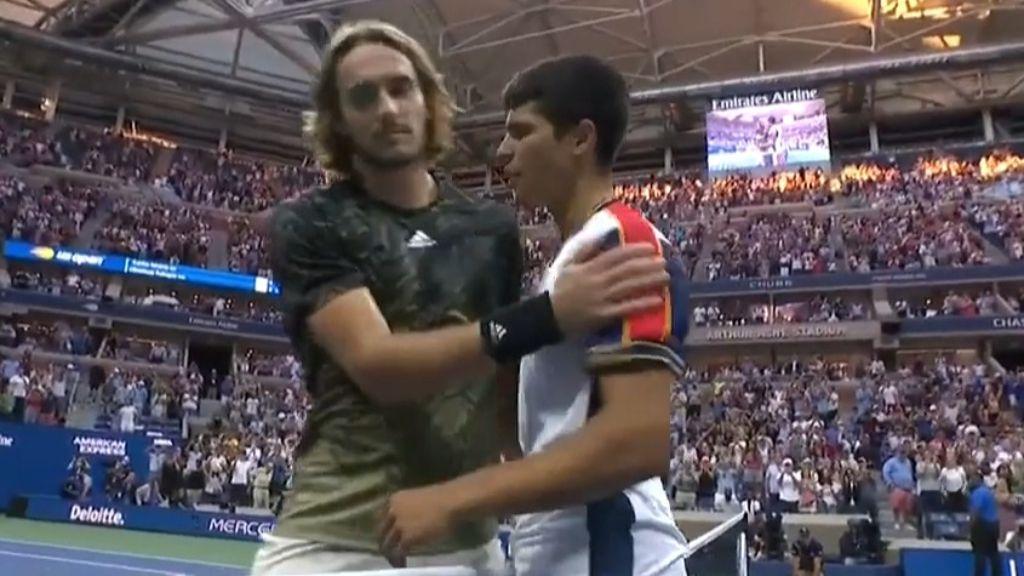 Spanish teen Carlos Alcaraz upends No. 3 Tsitsipas in 5 sets at US Open