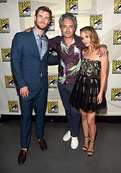 Chris Hemsworth, Taika Waititi, Natalie Portman, Comic-Con