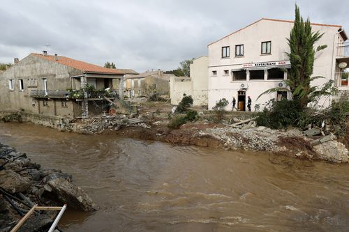Residents in the village of Villegailhenc have said it is like a war zone after the flash flood hit.