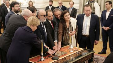 New Greek Ministers take oaths in Athens, Greece on November 5, 2016. (AFP)