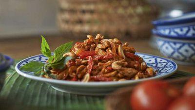 """Recipe:&nbsp;<a href=""""http://kitchen.nine.com.au/2017/01/31/11/49/chilli-jam-chicken-stir-fry"""" target=""""_top"""">Chilli jam chicken stir-fry</a>"""