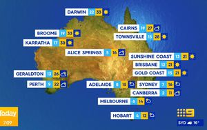 Cold, gusty winds to lash South Australia, Tasmania, Victoria and southern NSW