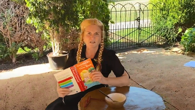 Sarah Ferguson, the Duchess of York, reads Goldilocks And The Three Bears.