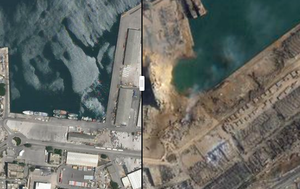 Before-and-after satellite images of Beirut explosion show massive devastation