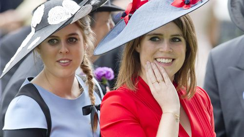Princesses Beatrice and Eugene are now eight and ninth in line to the throne respectively. (AAP)