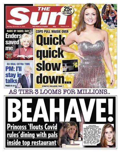 Princess Beatrice The Sun restauarant