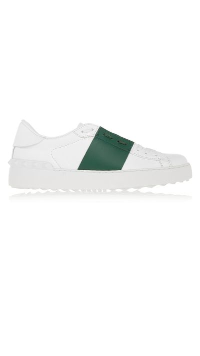 "<a href=""http://www.net-a-porter.com/au/en/product/587265"" target=""_blank"">Sneakers, $602.77, Valentino at net-a-porter.com</a>"