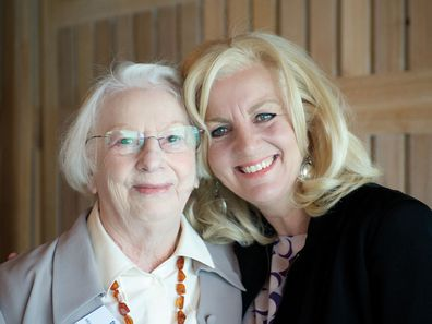Jean Kittson with her mother, Elaine.