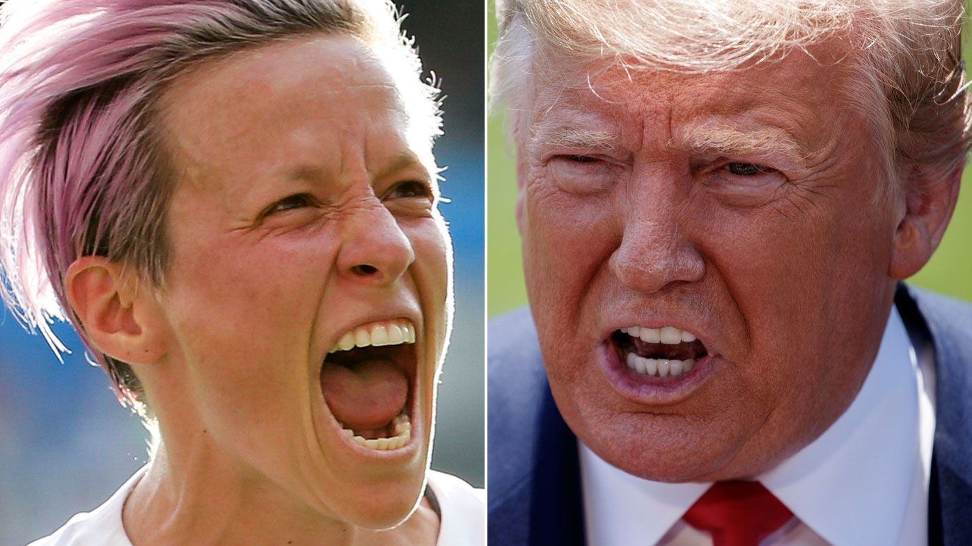 Snubbed Donald Trump clashes with Women's World Cup superstar Megan Rapinoe