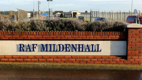 A man was arrested after allegedly attempting to break into RAF Mildenhall in the UK. (AAP)