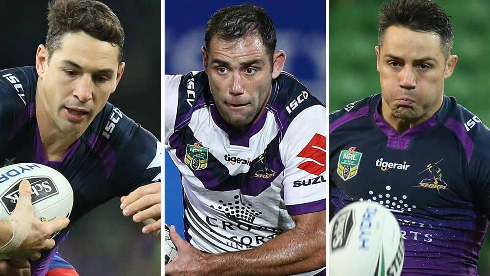 Billy Slater, Cameron Smith and Cooper Cronk. (AAP)