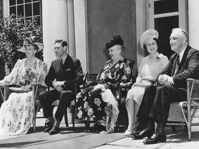 King George VI with Franklin D. Roosevelt, 1939