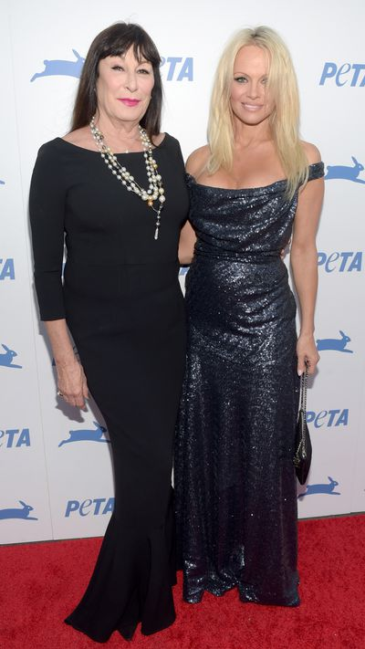 Anjelica Huston and Pamela Anderson