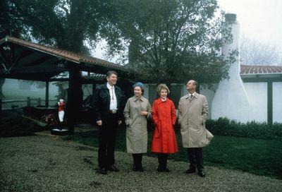 Visiting President Ronald Reagan in 1983