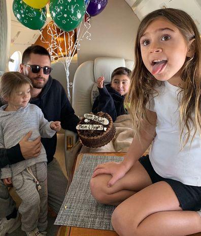 Scott Disick, kids, Mason, Penelope, Reign, photo