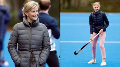 Sophie Countess of Wessex and daughter Lady Louise Windsor hockey